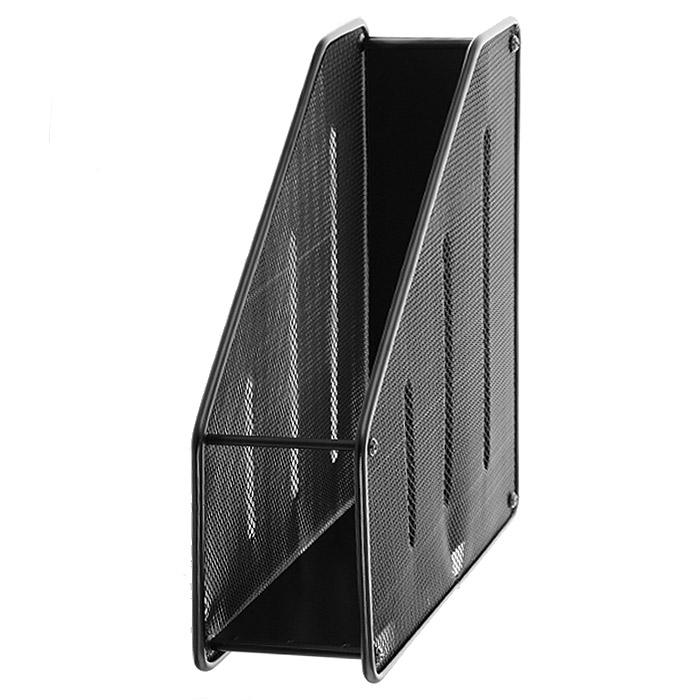Подставка для бумаг вертикальная ErichKrause Steel, черный корзина для бумаг erich krause сетчатая цвет черный 12 литров 3778