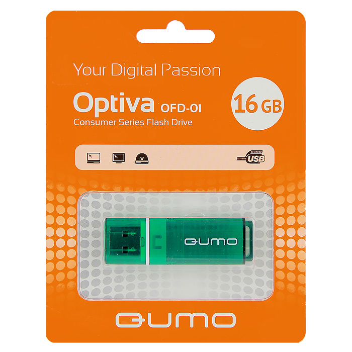 QUMO Optiva 01 16GB, Green уолл л гусь