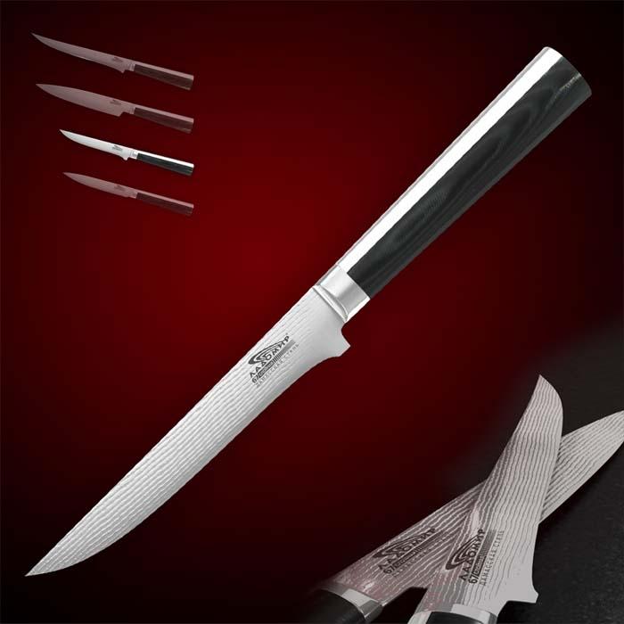 "Нож для мяса Ладомир ""Pakka Wood"", длина лезвия 13 см. А4КСМ13"