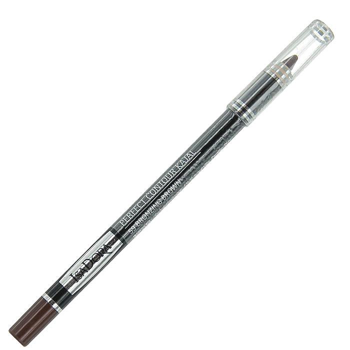 Контурный карандаш для глаз Isa Dora Perfect Contour Kajal, тон №59, цвет: коричневый бронзовый, 1,2 г контурный карандаш для глаз isa dora perfect contour kajal тон 66 цвет темно синий 1 2 г