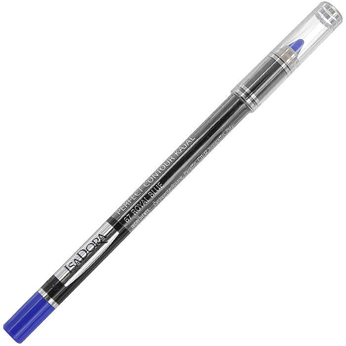 Контурный карандаш для глаз Isa Dora Perfect Contour Kajal, тон №67, цвет: королевский синий, 1,2 г контурный карандаш для глаз isa dora perfect contour kajal тон 66 цвет темно синий 1 2 г