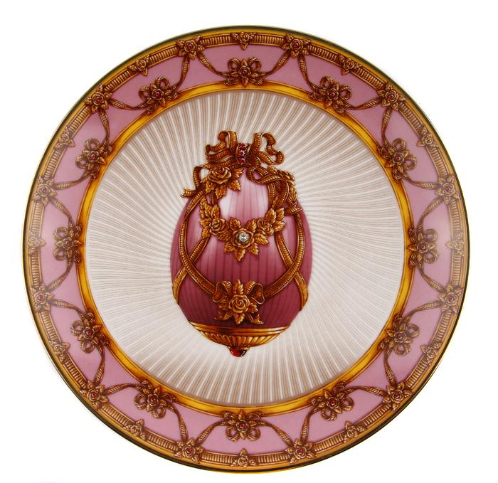Тарелка Летний букет. Фарфор, золочение. Франция, Faberge, The Franklin Mint, 1980-1990-е гг. ювелирные изделия фаберже фото