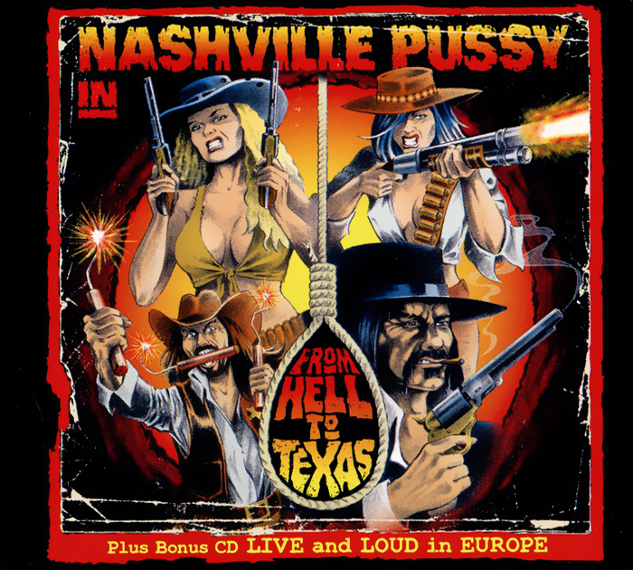 Nashville Pussy Nashville Pussy. From Hell To Texas / Live And Loud In Europe (2CD) pussy bow semi sheer blouse