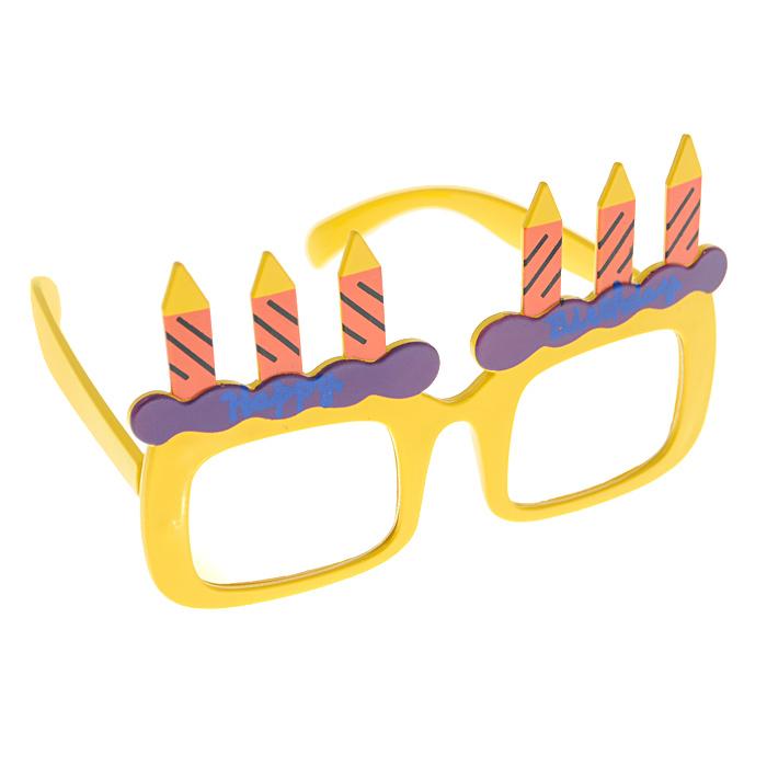 Карнавальные очки Праздничный торт, цвет: желтый карнавальные очки праздничный торт цвет желтый