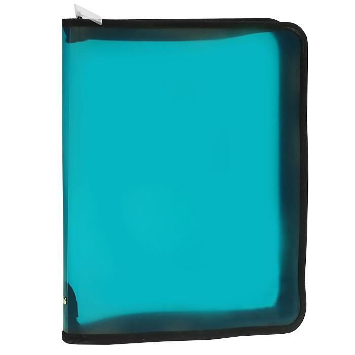 Папка на молнии ErichKrause Vivid colors, A4+, цвет в ассортименте