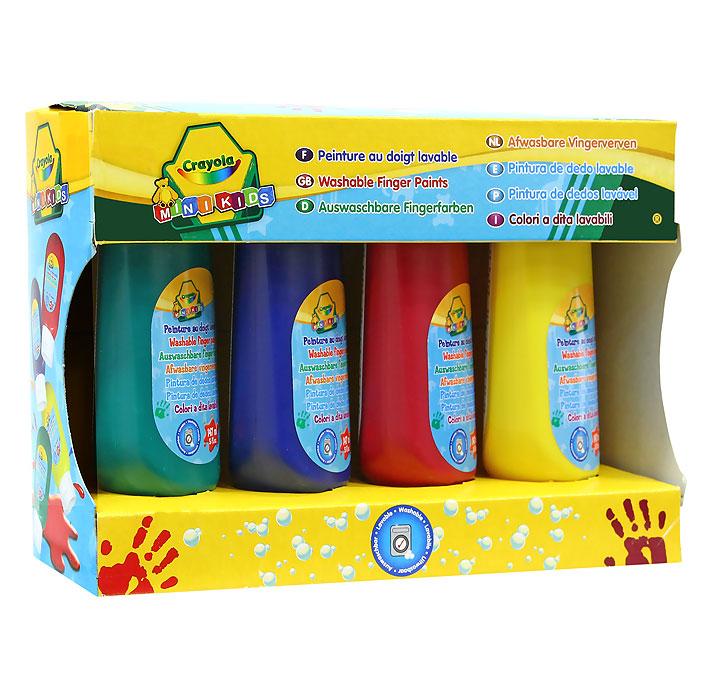 Набор красок для рисования пальцами Crayola Mini Kids, 4 цвета набор красок crayola poster paints