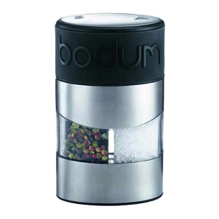 Мельница для перца и соли Bodum Twin, цвет: черный мельница ручная мельница перец соль 2 в 1 iris i3348 i