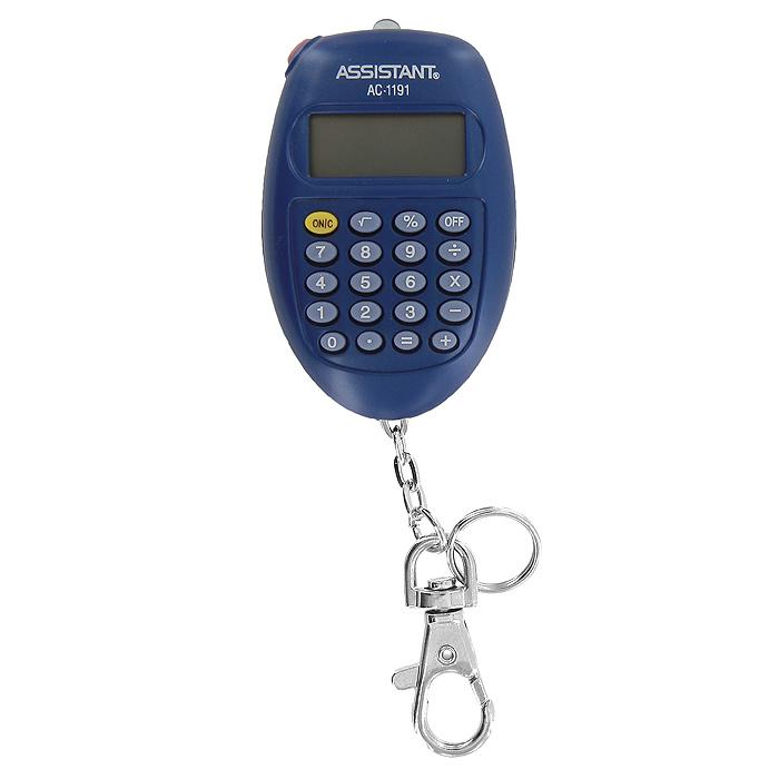 Калькулятор Assistant AC-1191BL, 8-разрядный, цвет: синий цена