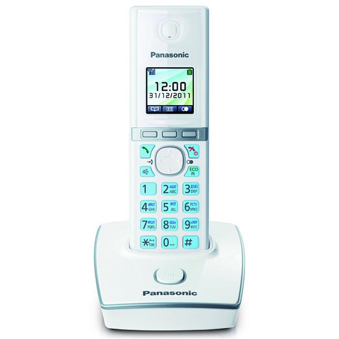 Радиотелефон Panasonic KX-TG8051RUW, белый телефон dect gigaset l410 устройство громкой связи