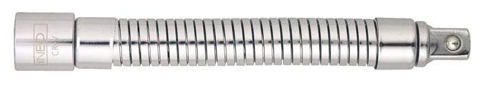 Удлинитель Neo, гибкий, 1/2, 180 мм08-558Удлинитель Neo применяются для проведения слесарно-монтажных работ с резьбовыми соединениями. Позволяет работать в труднодоступных местах. Характеристики: Материал: хром-ванадий. Длина удлинителя: 18 см. Размер переходника: 1/2. Размер упаковки: 25 см х 4,5 см х 2 см.