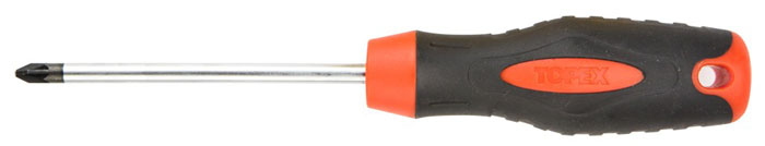 Отвертка крестовая Topex, PZ2 x 100 мм отвертка крестовая neo pz2 x 100 мм