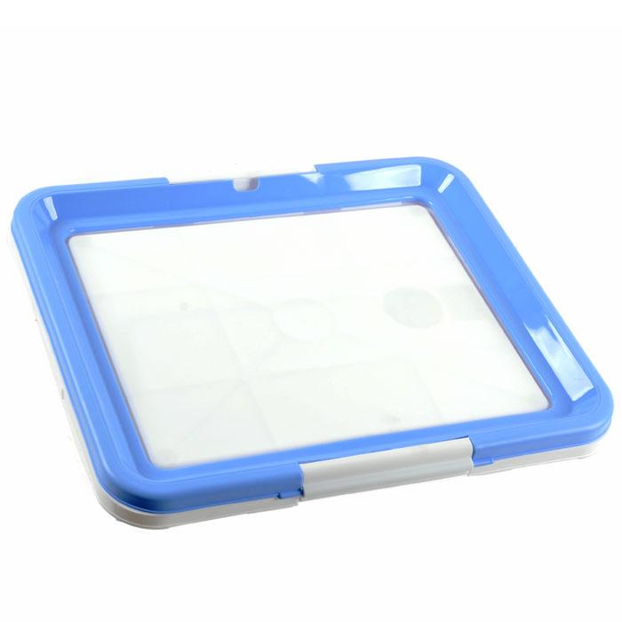 Туалетный лоток для собак Triol, цвет: белый, голубой лоток для кошек vanness с аксессуарами цвет голубой бежевый 48 см х 38 см х 19 см