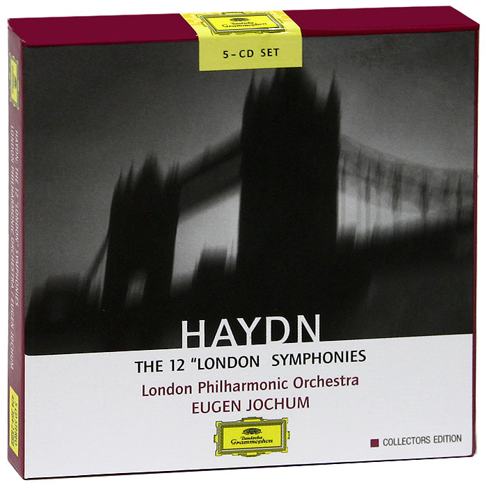 Юджин Йохум,London Philharmonic Orchestra,Berliner Philharmoniker,Symphonie-Orchester Des Bayerischen Rundfunks Eugen Jochum. Haydn. The 12 London Symphonies. Collectors Edition (5 CD)