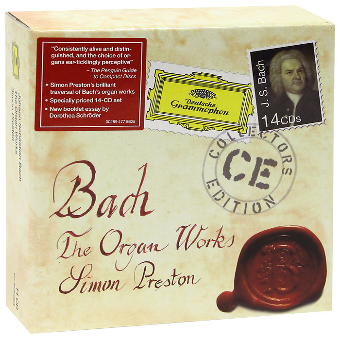 Саймон Престон Simon Preston. Bach. The Organ Works (14 CD) мари клэр элэйн адольф буш sankt nicolai kirke marie claire alain bach complete works for organ 15 cd