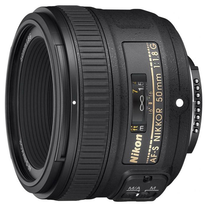 Объектив Nikon AF-S Nikkor 50mm f/1.8G зеркальный фотоаппарат nikon d7500 af s dx nikkor 18 105vr черный