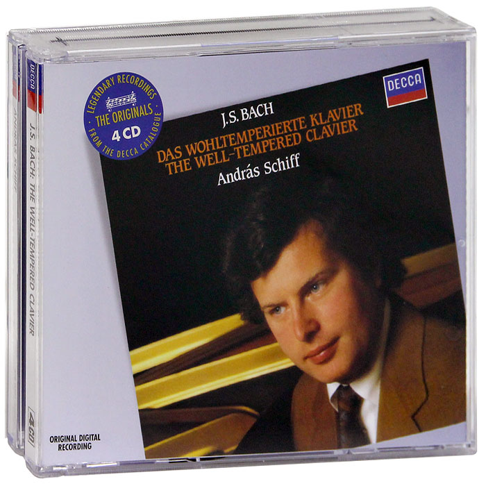лучшая цена Андрас Шифф Andras Schiff. Bach. The Well-Tempered Clavier (4 CD)