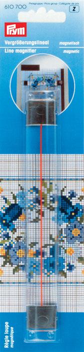 Линейка увеличительная Prym, магнитная, 16,5 см материал для верха эспадрилий prym цвет морской песок 40 х 55 см
