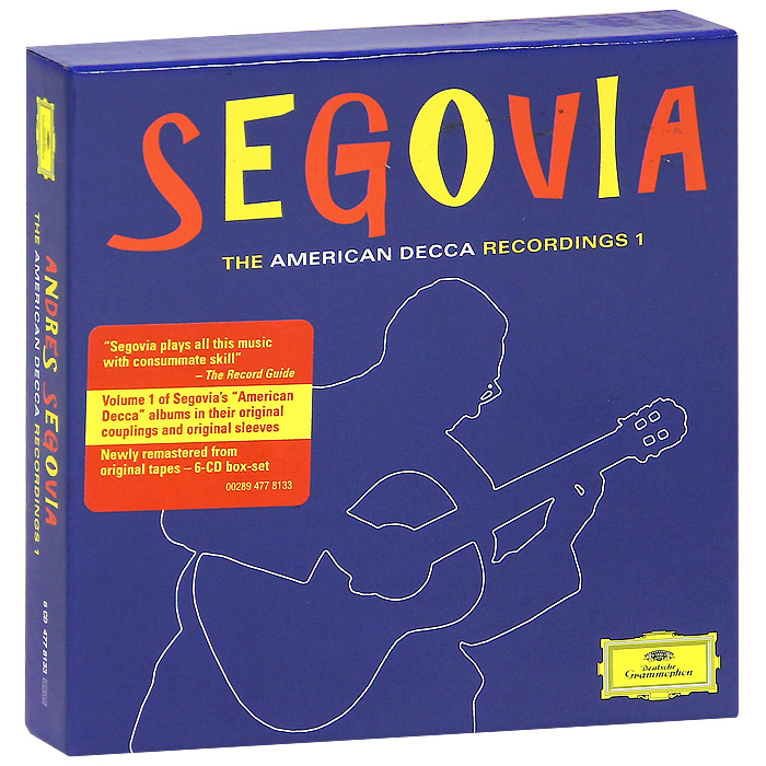 Андре Сеговия Andres Segovia. The American Decca. Recordings 1 (6 CD) the decca sound 2