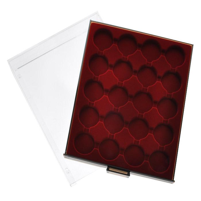 Кассета для монет Leuchtturm, MB, 20 ячеек. 1001 кассета для монет piano для монетных капсул quadrum 20 ячеек