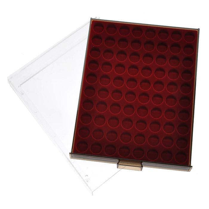 Кассета для монет Leuchtturm, MB, 80 ячеек. 8099 кассета для монет piano для монетных капсул quadrum 20 ячеек