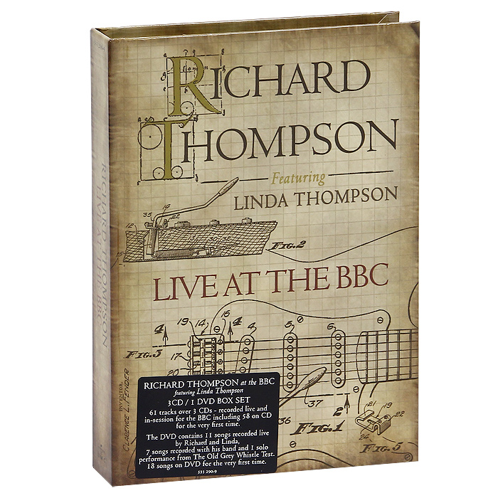 Ричард Томпсон Richard Thompson. Live At The BBC (3 CD + DVD) disney in concert braunschweig