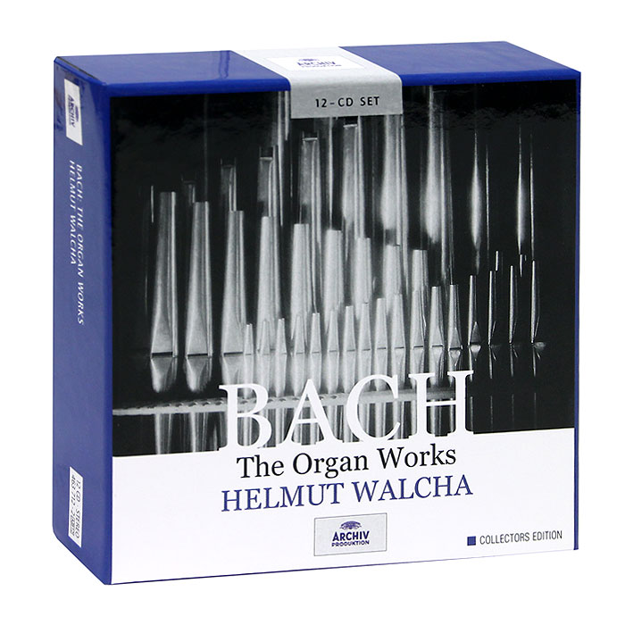 Хельмут Вальха Helmut Walcha. Bach. The Organ Works (12 CD) мари клэр элэйн адольф буш sankt nicolai kirke marie claire alain bach complete works for organ 15 cd