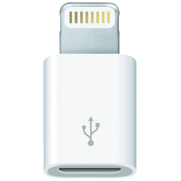 Apple Lightning to Micro USB Adapter (MD820ZM/A) аксессуар pqi usb to lightning microusb 90cm для iphone ipad ipod green pqi icable duplug90 gn