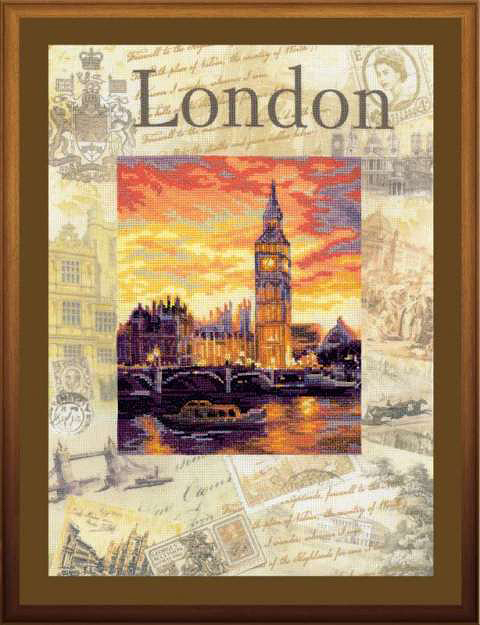 """Набор для вышивания """"Города мира. Лондон"""", 30 х 40 см"""