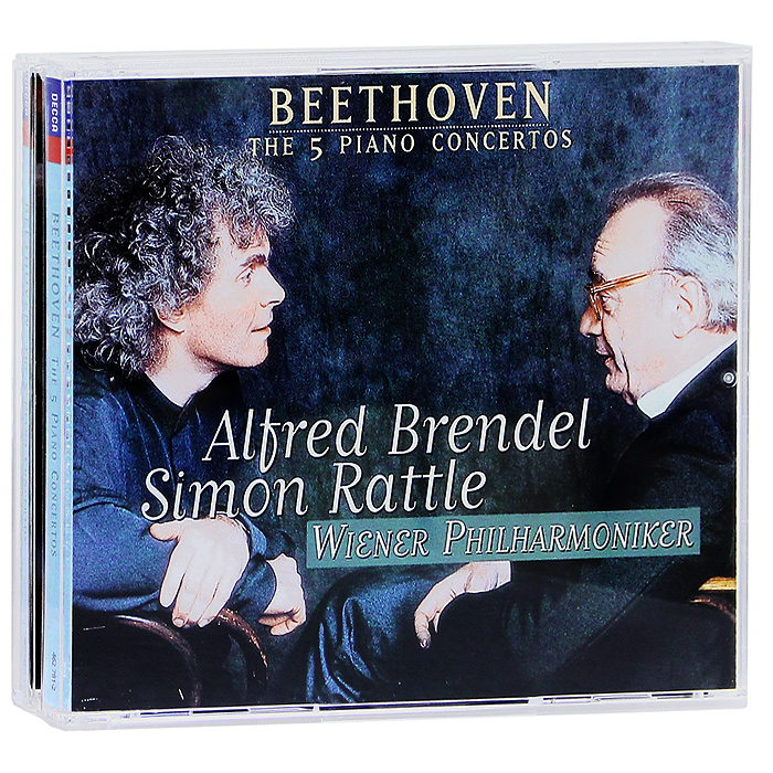 Альфред Брендель,Саймон Рэттл,Wiener Philharmoniker Orchestra Alfred Brendel, Simon Rattle, Wiener Philharmoniker. Beethoven. The 5 Piano Concertos. Brendel (3 CD)