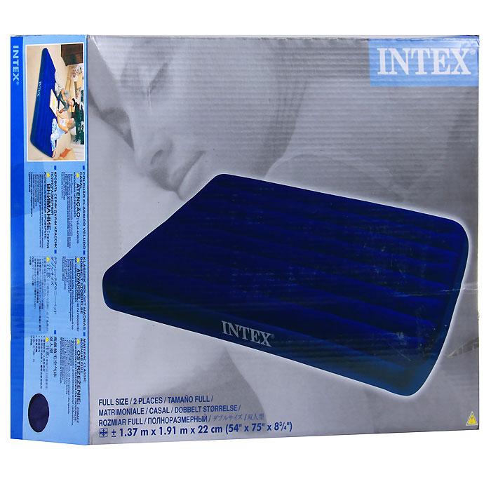 Надувной матрас Intex цвет синий 137 см х 191 см Уцененный товар №11