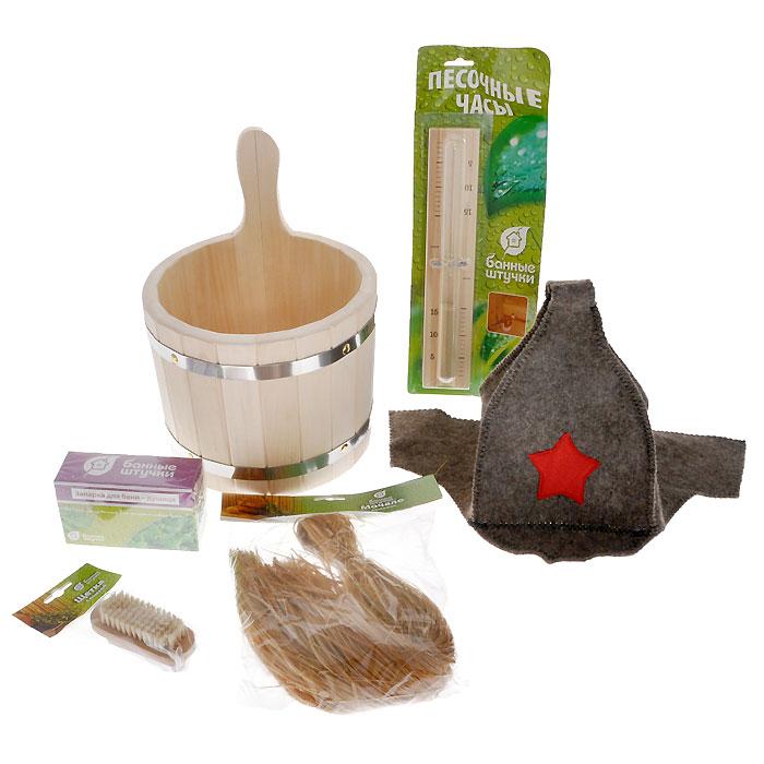 Подарочный набор для бани и сауны Банные штучки, 6 предметов