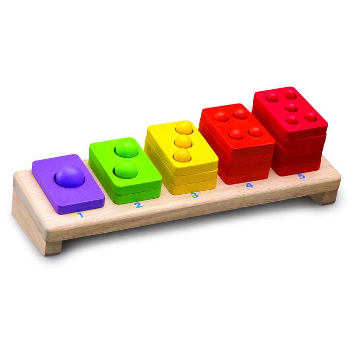Развивающая игрушка Пирамидки с цифрами