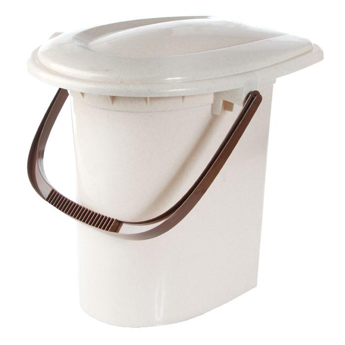 Ведро-туалет, 16 л, цвет: бежевый. М2459