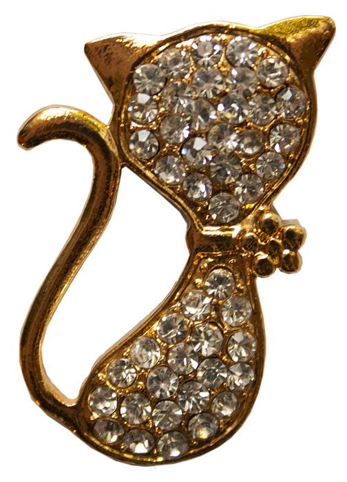 Наклейка универсальная Золотая кошечка, на любую поверхность наклейка для телефона partner змея серебристая