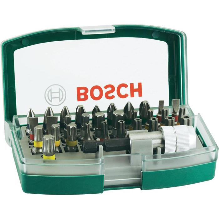 Набор бит Bosch 32 шт 2607017063 цена в Москве и Питере