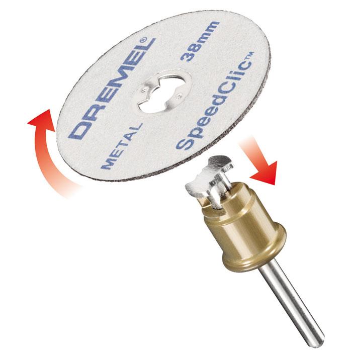 Набор насадок c держателем, 2 шт. Dremel SC406 (2615S406JC) держатель dremel 401