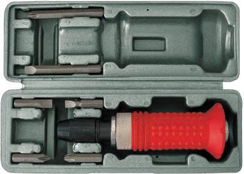 Отвертка ударная FIT, реверсивная, с 6 битами