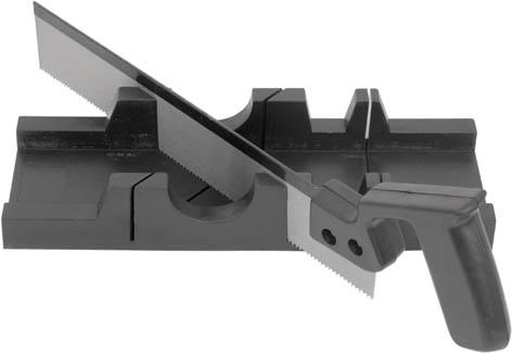 Стусло пластиковое с ножовкой Fit, цвет: черный стусло vorel профи цвет черный 4 5