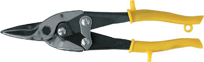 Ножницы по жестиFit Aviation прямые41451Ножницы для работы по жести с усиленной пружиной. Изготовлены они из инструментальной стали, оснащены эргономичными прорезиненными ручками. Характеристики: Материал: металл, пластик. Длина инструмента: 25 см. Комплектация: 1 шт.
