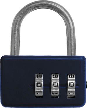 Замок навесной FIT кодовый, цвет: синий, 3 диска замок навесной onguard сталь 35х42мм кодовый