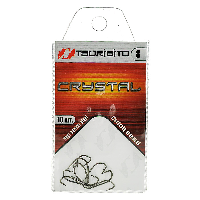 """Крючок рыболовный Tsuribito """"Crystal"""", №8, 10 шт. 34640"""