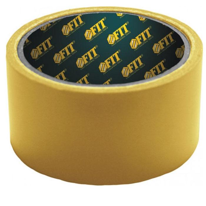 Лента двухсторонняя Fit, укрепленная тканью, 48 мм х 10 м лента unibob для укладки ковровых покрытий ткань 50 мм х 10 м