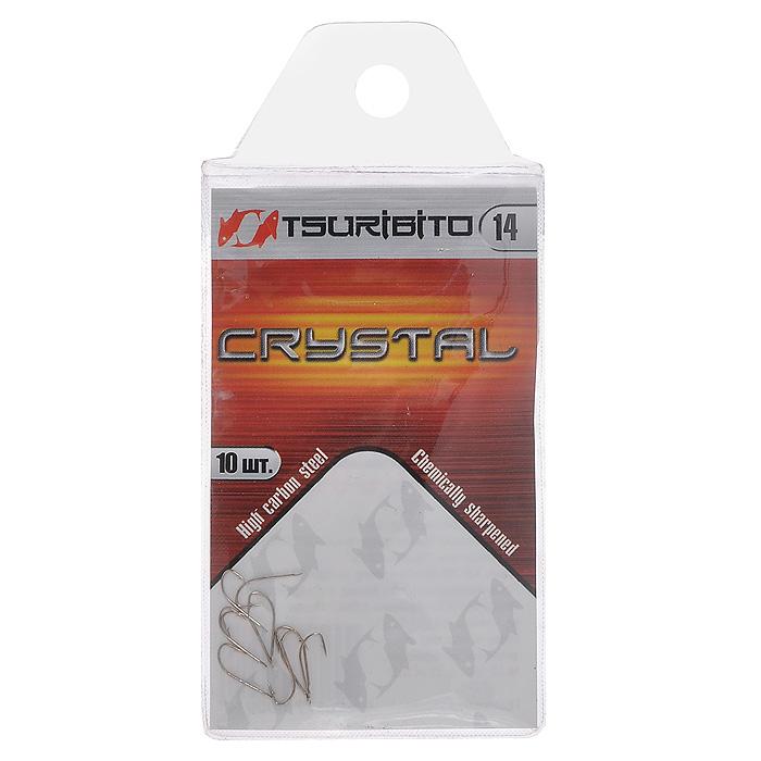 Крючок рыболовный Tsuribito Crystal, №14, 10 шт. 34627 крючок рыболовный tsuribito crystal 14 10 шт 34627