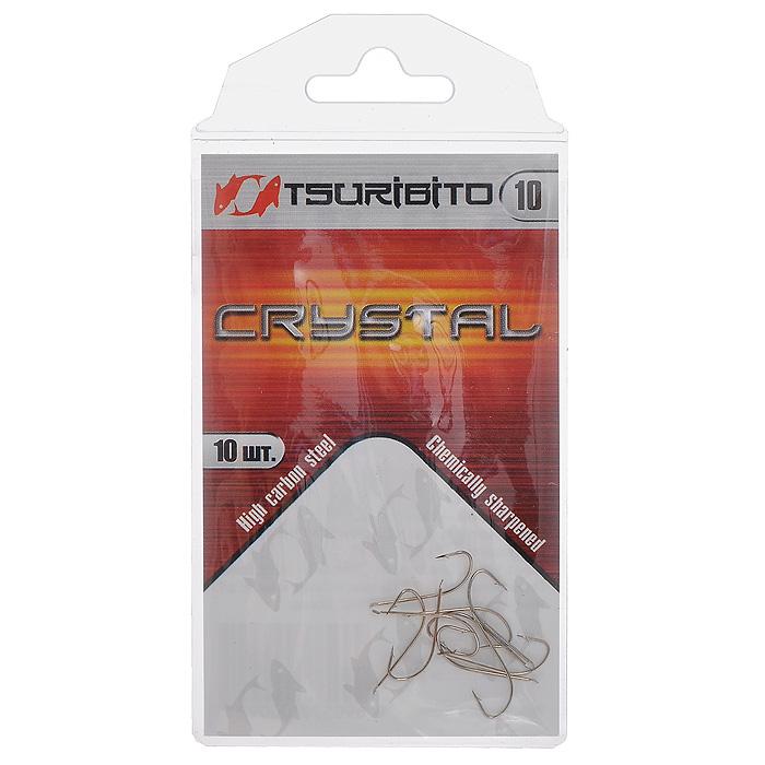 Крючок рыболовный Tsuribito Crystal, №10, 10 шт