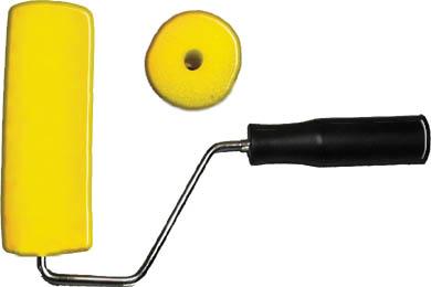 Валик поролоновый FIT с ручкой, 180 мм, цвет: желтый цена