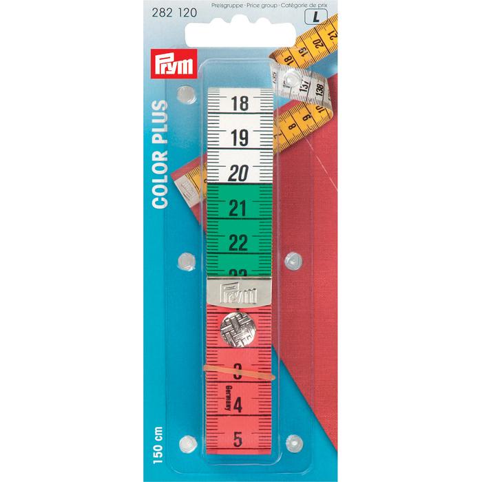 Измерительная лента Prym Колор Плюс, с кнопкой и сантиметровой шкалой, 150 см282120Измерительная лента Prym Колор Плюс изготовлена из стекловолокна с сантиметровой шкалой. Одна сторона ленты цветная, другая сторона - желтого цвета. Лента оснащена металлической кнопкой, с помощью которой вы сможете пристегивать края ленты. Измерительная лента - это незаменимый измерительный инструмент, без которого не сможет обойтись не один портной. Ширина ленты: 2 см. Рекомендуем!