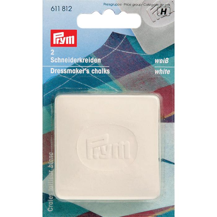 Мел портновский Prym, цвет: белый, 5 х 5 см, 2 шт tayo футляр для хранения 2 х ножниц 21 5 см х 8 5 см х 2 5 см