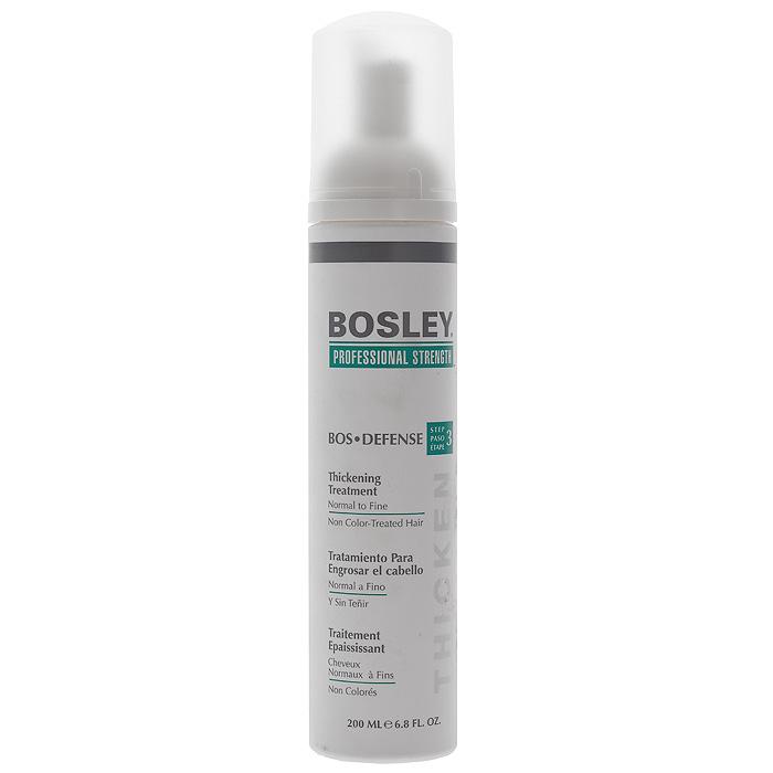 Bosley Уход, увеличивающий густоту нормальных, тонких и неокрашенных волос, 200 мл bosley bosley уход увеличивающий густоту истонченных окрашенных волос 200 мл