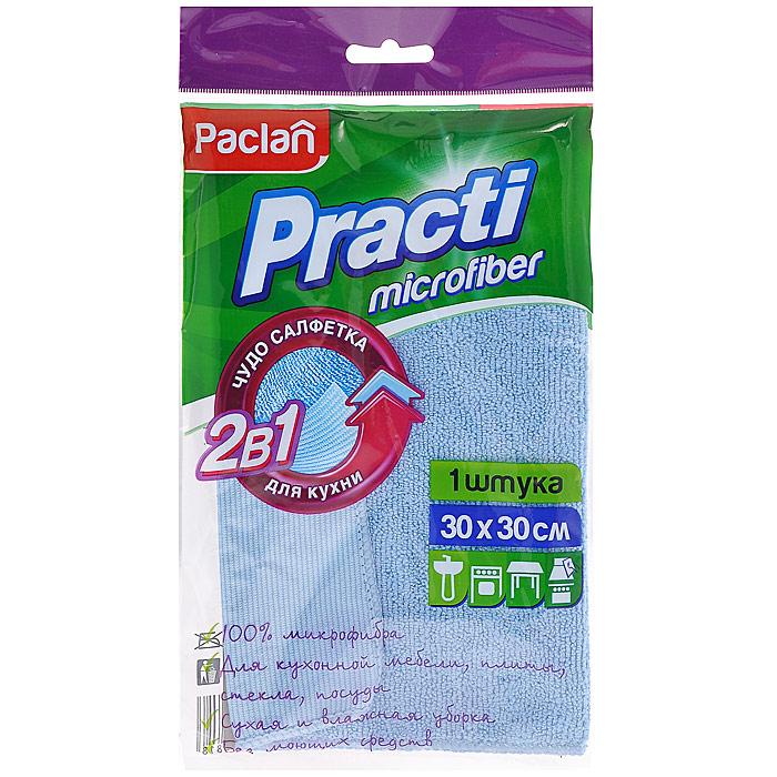 Салфетка 2в1 Practi для кухни, цвет: голубой, 30 х 30 см цена