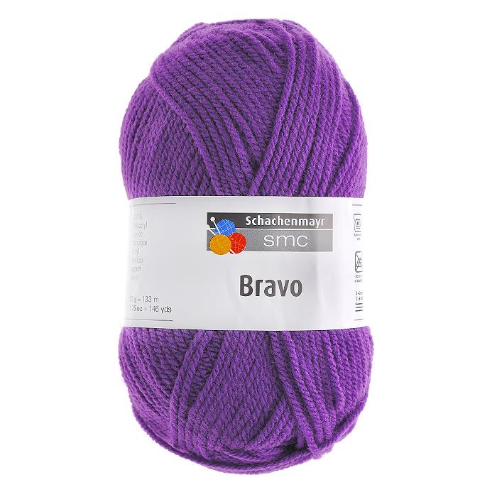 цена на Пряжа для вязания Bravo, цвет: фиолетовый (08303), 133 м, 50 г